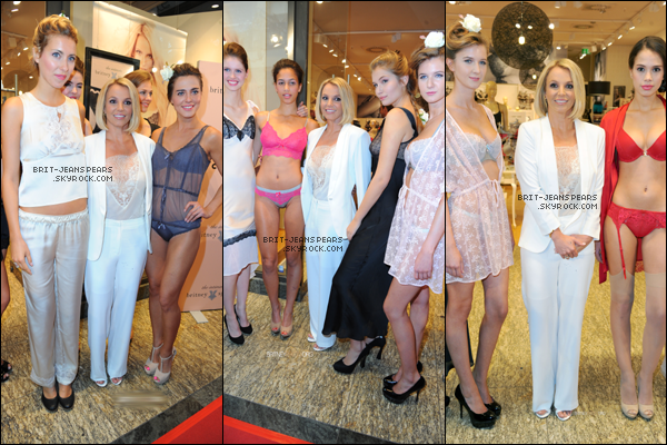 """. Brit' présentait sa collection de lingerie chez """"CentrO"""" à Oberhausen, le 25 septembre. ."""