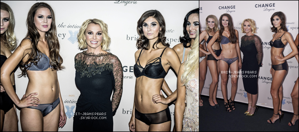 ". Brit' présentait sa collection de lingerie au ""Forum"" de Copenhague, le 25 septembre. ."