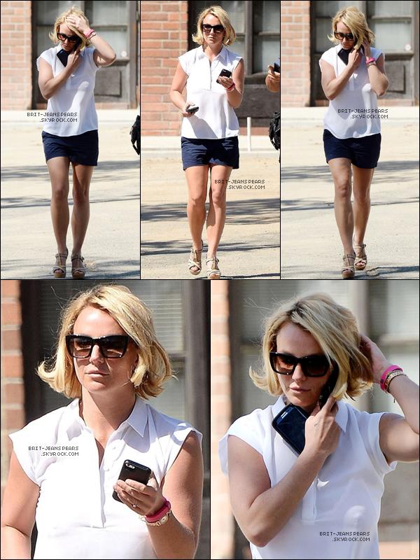 . Britney a été repéré quittant la salle de gym' à Westlake Village, le 01 octobre. .
