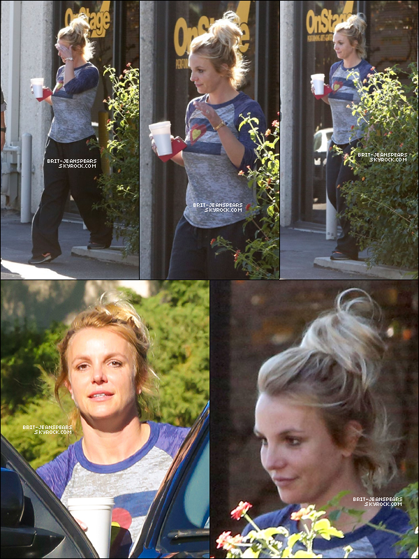 . Britney a été vue devant un studio de danse à Thousand Oaks, le 15 janvier. .