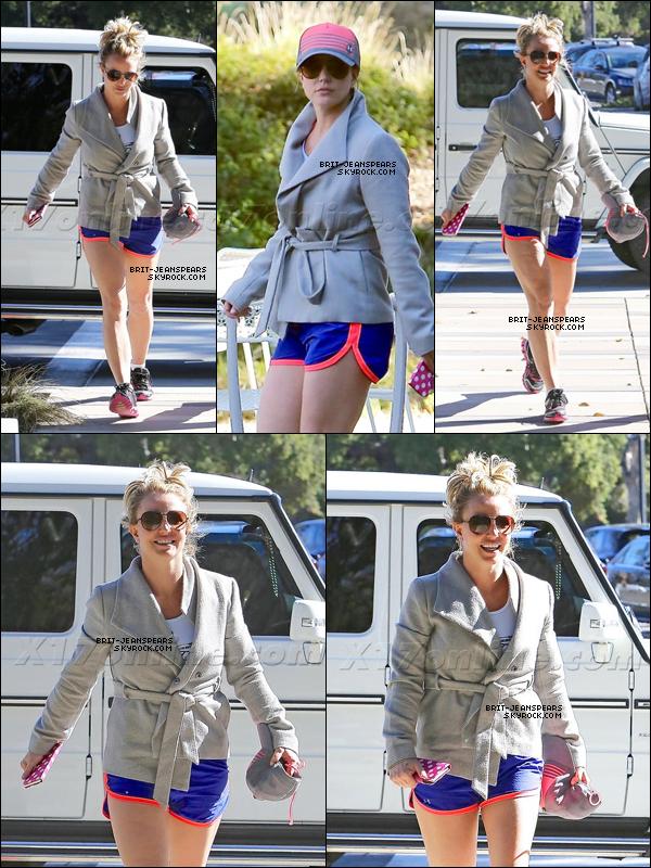 . Britney a été vue se rendant à son cours de gym' à Los Angeles, le 21 janvier. .