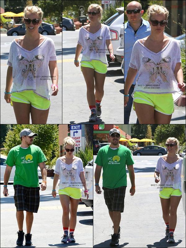 . Britney et David ont été vus arrivant à un cours de gym' à Calabasas, le 25 août. .