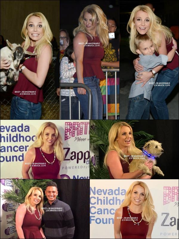 . Britney était présente à la soirée de charité du zoo de Las Vegas, le 26 février. .