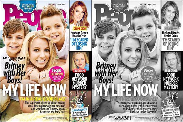 """. Britney et ses fils sont en couverture du magazine américain """"People"""" de Avril 2015. ."""