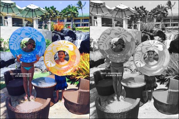 . Britney et ses fils ont été repérés faisant du shopping à Hawaii, le 26 mars. .