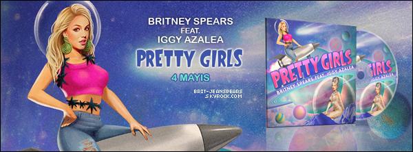 """. La version audio officielle de """"Pretty Girls"""" en featuring avec Iggy Azalea vient de filtrer ! ."""