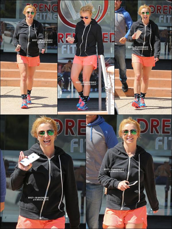. Britney a été repérée alors qu'elle arrivait à son cours de gym', le 10 mai. .
