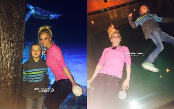 . Britney a passé la journée avec ses fils Sean et Jayden à Las Vegas, le 01 janvier. .