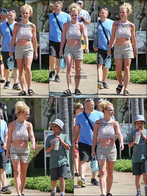 . Britney et son fils Sean ont été aperçu faisant du shopping à Hawaii, le 29 mars. .