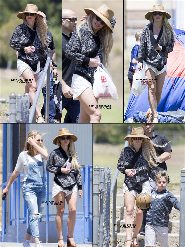 . Britney a été aperçue au match de football de ses fils à Thousand Oaks, le 30 avril. .
