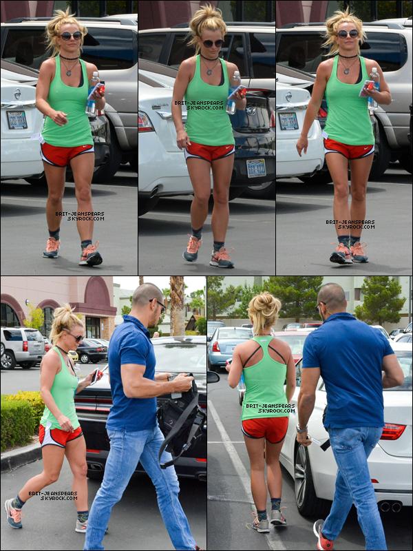 . Britney a été vue alors qu'elle quittait son cours de gym' à Las Vegas, le 09 juillet. .