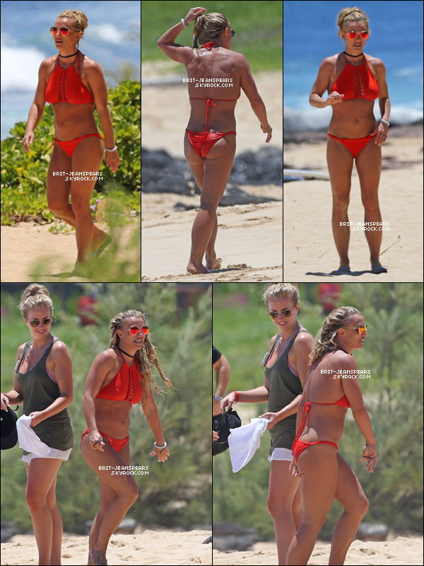 . Britney a été repérée alors qu'elle profitait de la plage de Hawaii, le 03 août. .