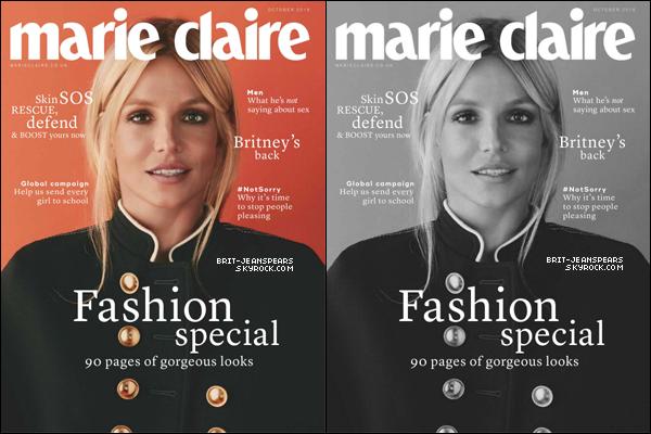 """. Britney est en couverture du magazine """"Marie Claire UK"""" du mois d'octobre 2016. ."""