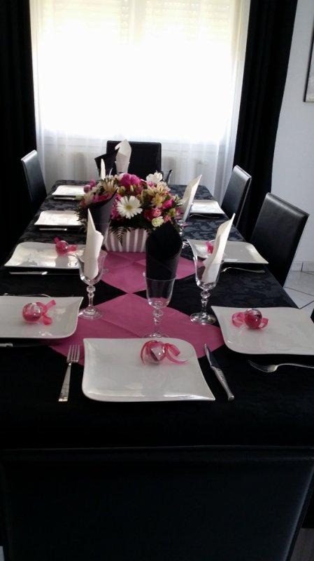 la table du jours de mon anniversaire en famille