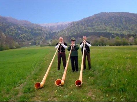 La Suisse : Cor des Alpes.
