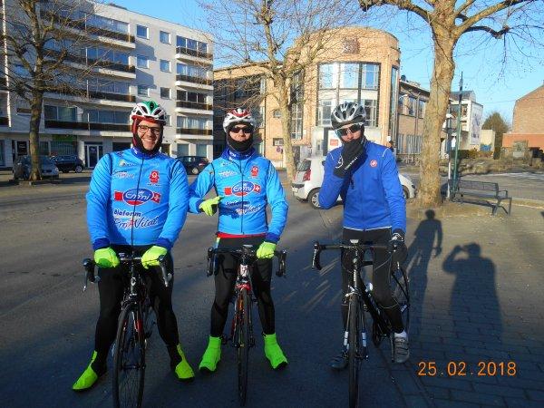 1er sortie du vélo club de Morlanwelz  dimanche 25 février 2018