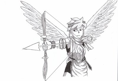 Pit de kid icarus super smash bros brawl art by thalnos70 - Dessin de pitbull ...