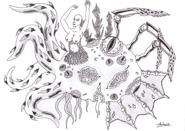 Créature étrange façon H.P Lovecraft (sans modèle)