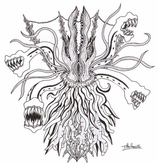 Monstre étrange façon H.P Lovecraft (sans modèle)