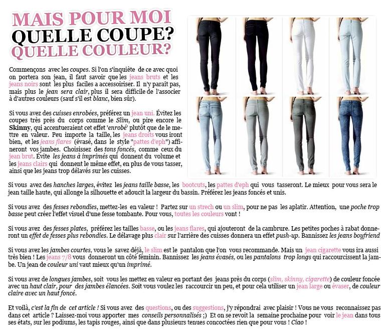 Rubrique Mode & Beauté : Série Jeans - Marie