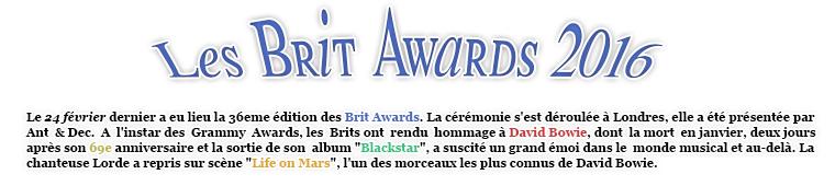Article musique : Les Brit Awards - Estelle