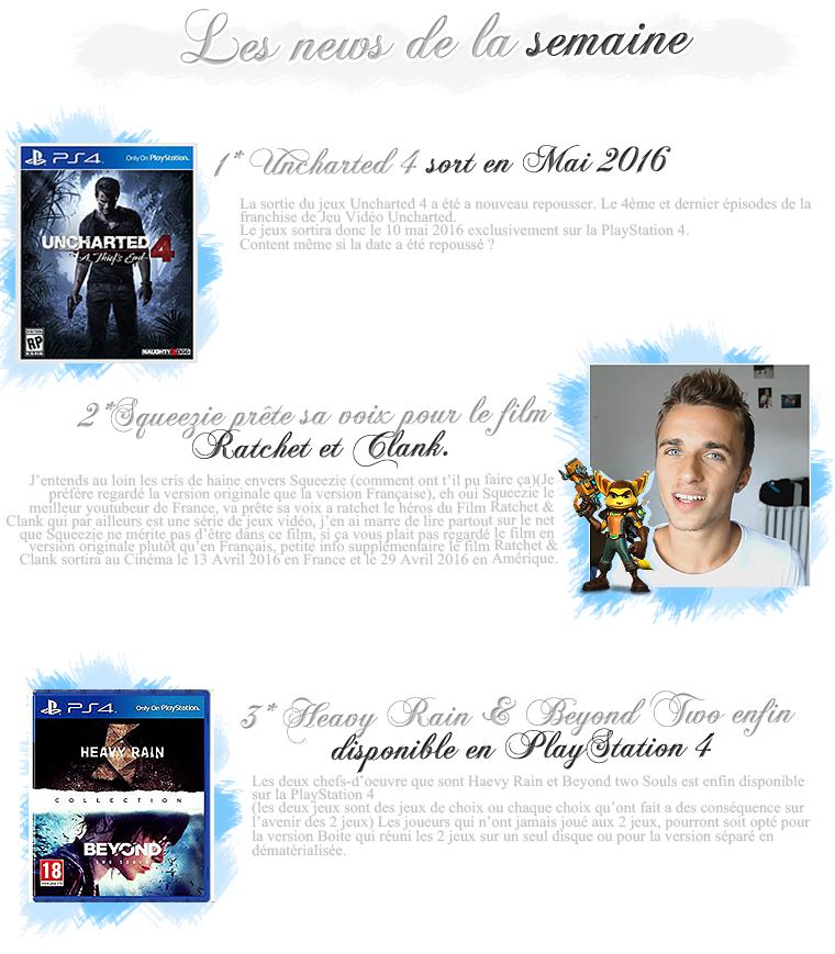 Rubrique Jeux vidéo - Les News de la semaine - Nuno