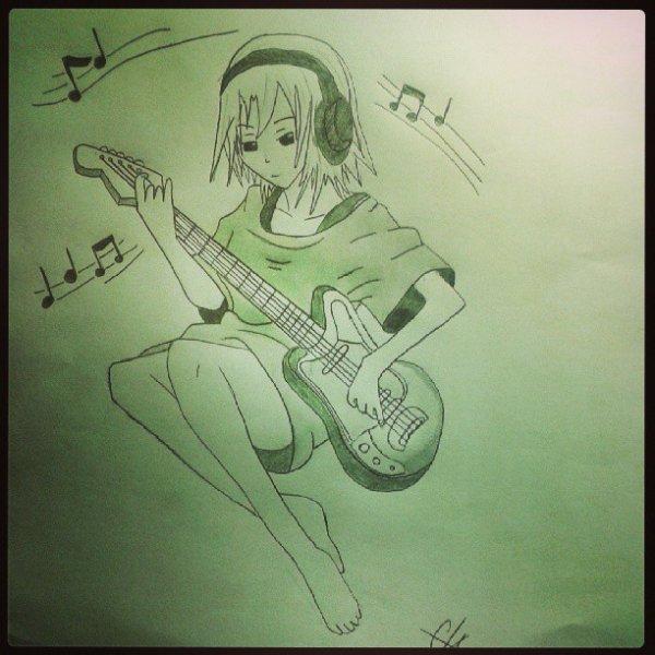 Ma guitariste