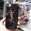 YSL iphone7ケース ブラック iphone7plus サンローラン 大理石紋 芸能人愛用