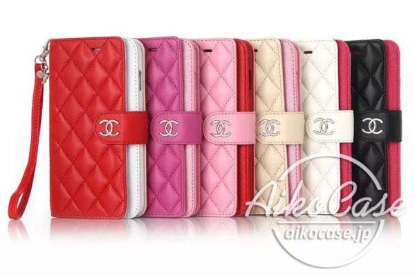 シャネル iphone8ケース 手帳 iphone7ミラー付きケース CHANEL 新品