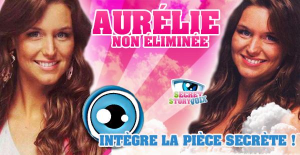 Aurélie n'est pas éliminée !