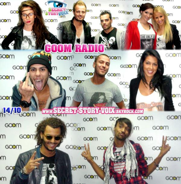 Les candidats de passage à Goom Radio !