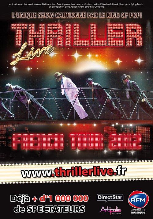 En 2012, le célèbre spectacle Thriller Live sera en tournée dans toute la France...