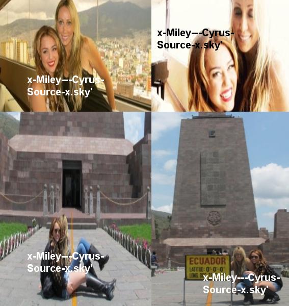 """29/04/11 ~ Miley et sa maman sont arrivées en Equateur pour le premier concert de Miley. Quatre photos sont disponibles. + Ca y' est, le coup d'envoi de la tournée """"Gypsy Heart Tour"""" est donné ! Miley a fait un premier concert en Equateur. Découvrez la liste des chansons en dessous. Par la suite, elle a dit sur Twitter : """"Honnêtement, je ne peux pas croire que mon premier concert soit déjà terminé. Merveilleuxxxx. Cette foule était plus qu'incroyable. Mes yeux n'ont pas cessé de pleurer. Tellement émue. Je vous aime."""" et """"Je suis impatiente pour le prochain concert! LIMA J'ARRIVE =] Vous avez de la compétition, l'EQUATEUR était merveilleux !""""."""