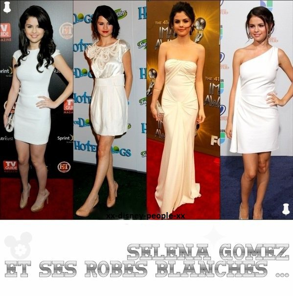 selena et ses robes blanches