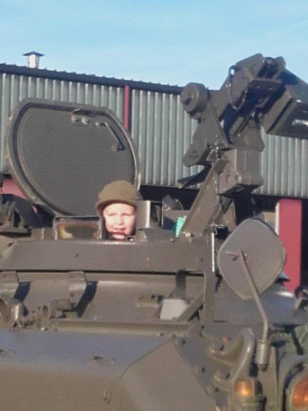 Première expérience d'un char