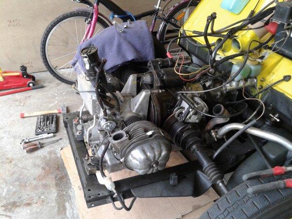 déshabillage du moteur
