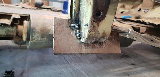 réparation du pied milieu