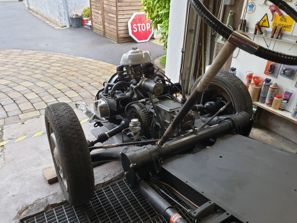 Sortie du chassis