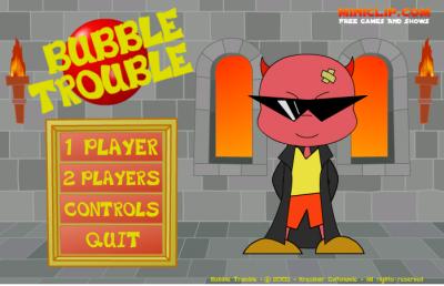 Bubble Trouble le jeux XD