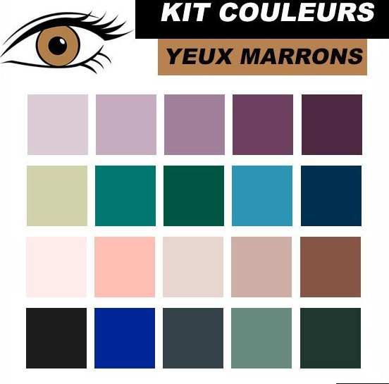 quelles couleurs pour quelles yeux