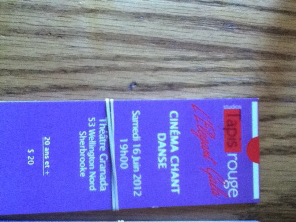 billets pour tapis-rouge :)