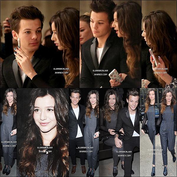 .24/01/2013 : Eleanor s'est rendue avec son petit-ami Louis à la «Topshop fashion show»  - à Londres