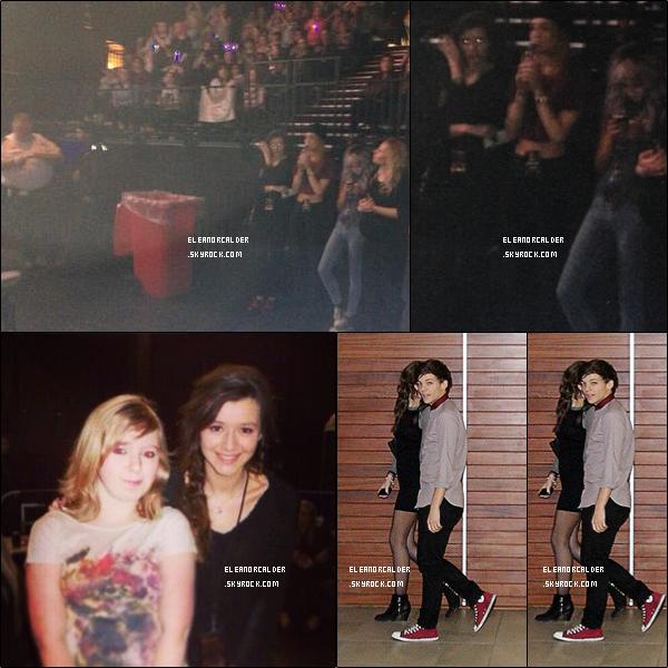 .26/03/2013 : Eleanor était une fois de plus, présente au concert des One Direction.