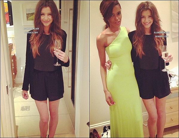 .13/04/2013 :  Eleanor ravissante comme toujours, était à une fête d'anniversaire.