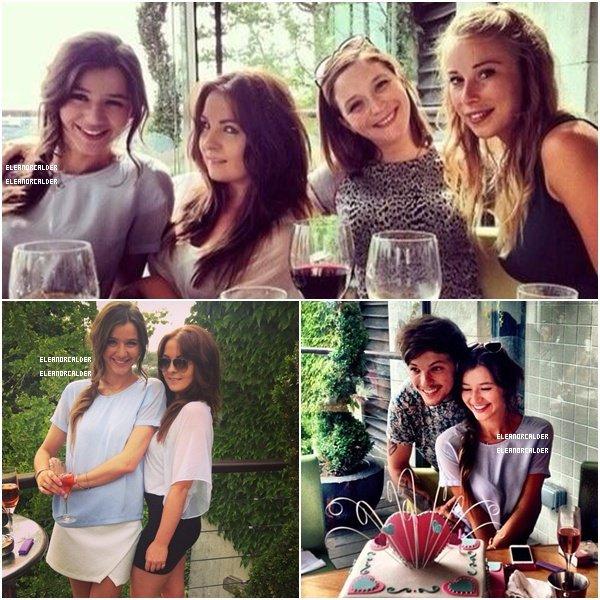 .16/07/13 :  Hier soir Eleanor fêtait son anniversaire avec ses amies & Louis !  Un grand JOYEUX ANNIVERSAIRE à Eleanor qui a fêté ses 21 ans hier !