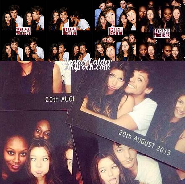 .20/08/13 -  Eleanor et Louis à l'avant premier du film, This Is Us, à Londres.