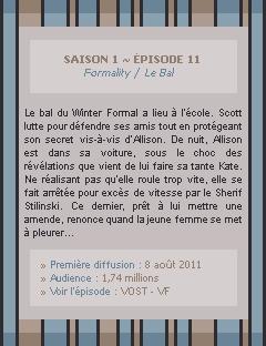 Teen Wolf Saison 01 - Episode 11 Crea - Déco