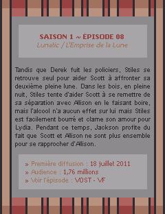 Teen Wolf Saison 01 - Episode 08 Crea - Déco