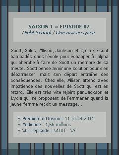 Teen Wolf Saison 01 - Episode 07 Crea - Déco