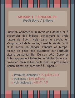 Teen Wolf Saison 01 - Episode 09 Crea - Déco